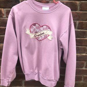 Vintage pink grandma sweatshirt
